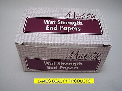 Matty Wet Strength End Papers Box Of 5 X 500 Perm Paper (BO1)