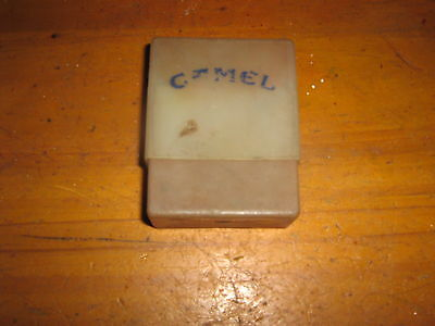 Camel Cigarette  pack cover ? plastic two pieces vintage Advertising Tin
