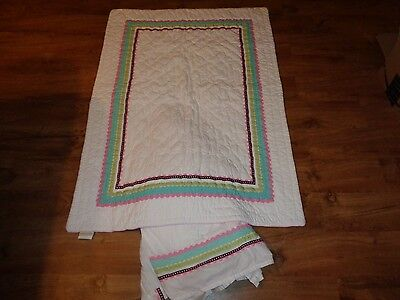 GIRLS POTTERY BARN KIDS Baby Crib NURSERY BEDDING Quilt AND CRIB SKIRT