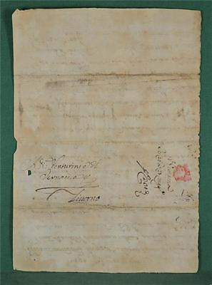 Antique Italian Letter Dated 1691 To Livorno - Italy Postal History   (Z7)