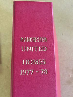 ALL 25 Manchester United 1977/78  Football Programmes in Binder