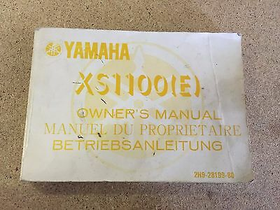 Original Yamaha XS1100 Motorcycle 216 page Owners Manual