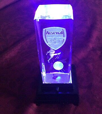 Arsenal Football Club Crystal Light Up Colour Changing Collectable