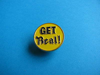 """"""" GET REAL  """" Campaign for Real Ale Beer Pin Badge."""