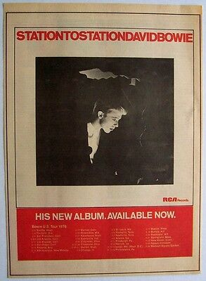 DAVID BOWIE 1976 Poster Ad STATION TO STATION