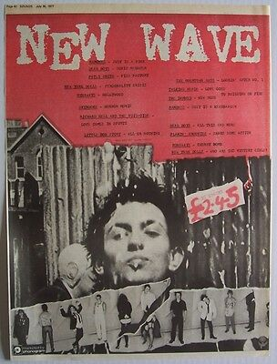 NEW WAVE 1977 Poster Ad RAMONES NEW YORK DOLLS TALKING HEADS PATTI SMITH DAMNED