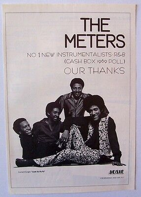 THE METERS 1969 Poster Ad LOOK KA PY PY POLL NO 1 NEW INSTRUMENTALISTS