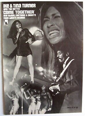 IKE AND TINA TURNER 1970 Poster Ad COME TOGETHER ikettes