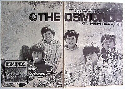 THE OSMONDS 1970 Poster Ad OSMONDS one bad apple