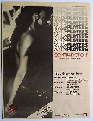 OHIO PLAYERS 1976 Poster Ad CONTRADICTION
