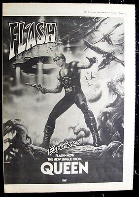 QUEEN 1980 Poster Ad FLASH GORDON