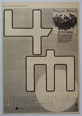 YELLOW MAGIC ORCHESTRA 1982 Poster Ad SOLID STATE SURVIVOR