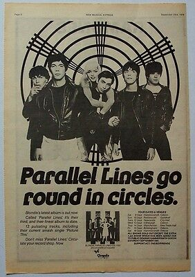 BLONDIE 1978 Poster Ad PARALLEL LINES