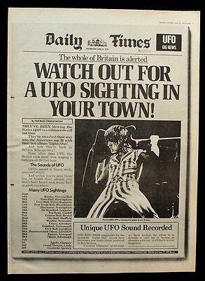 UFO 1978 Poster Ad UK CONCERT TOUR lights out