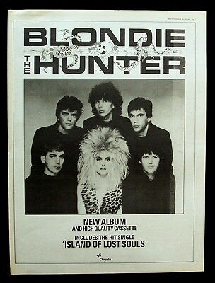 BLONDIE 1982 Poster Ad THE HUNTER