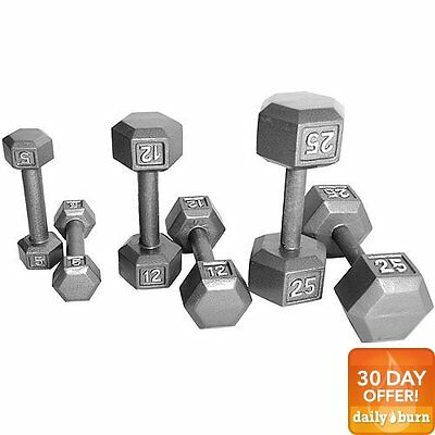 CAP Barbell Cast Iron Hex Dumbbell, Single | (55 lbs.)