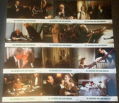 SET OF 12 ORIGINAL LOBBY CARDS OTHER PEOPLE'S MONEY Gregory Peck, Danny DeVito
