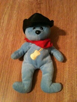 Celebrity Bears JC Bears Inc. Blue Bear with Cowboy Hat and Scarf, Guitar