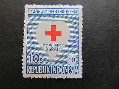1956 - Indonesia - Red Cross And Heart - Scott B92 Sp50 10S + 10S (1)