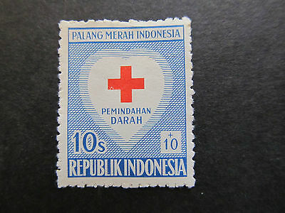 1956 - Indonesia - Red Cross And Heart - Scott B92 Sp50 10S + 10S (3)