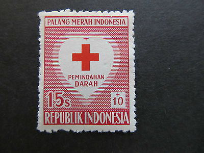 1956 - Indonesia - Red Cross And Heart - Scott B93 Sp50 15S + 10S (3)