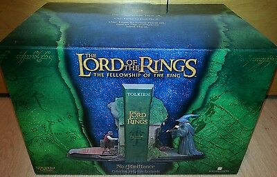 "The Lord of the Rings ""No Admittance"" Collectible Polystone Bookend RARE"