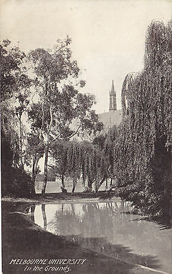 In The Grounds University of MELBOURNE Australia ca. 1909 Postcard