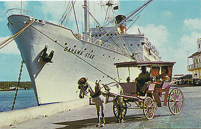 Eastern Steamship Lines Cruise Ship S.S. BAHAMA STAR Advertising Postcard