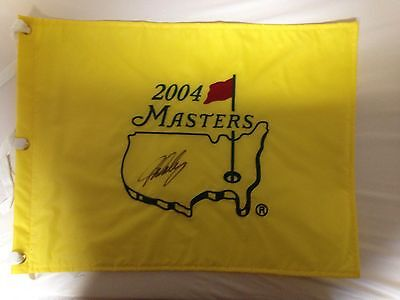 2004 masters pin flag signed by John Daly