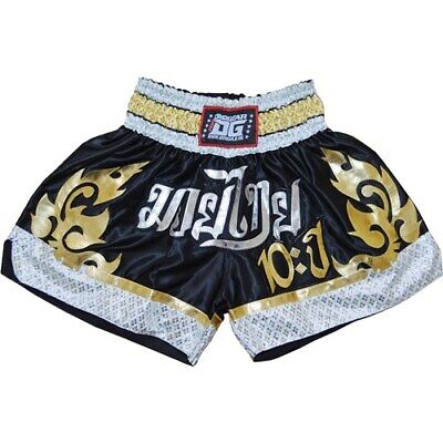 Black '10Yr' Shorts Trunks For Muay Thai Training And Fighting