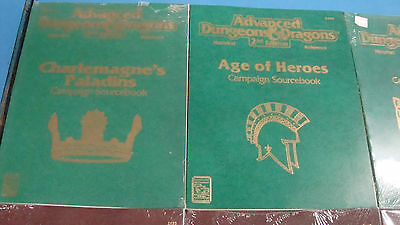9x Dungeons and Dragons 2.0 Books Screens Stored away 20 years ago Some New!