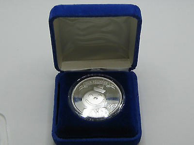 1997 Jack In The Box ~ Round Smiley Face With Bar Hat ~ Our Founder Silver Round