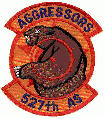 Ecusson Patch Aviation AGGRESSORS 527th AS USAF