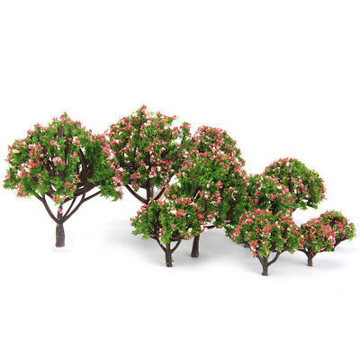 10 Flowers Tree Model Train Railway Park Architecture Spring Scenery HO OO