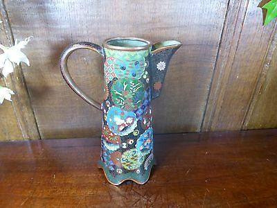 ANTIQUE Cloisonne PITCHER/CHOCOLATE/SAKE POT - very fine work - no lid - 17cms