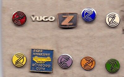 Zastava - Yugo - 10 Different Pins - Yugoslavian Car Industry