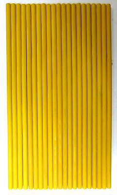21 x Yellow Wooden Dowel Rods