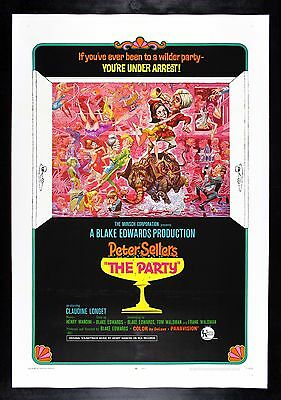 THE PARTY * CineMasterpieces 1968 VINTAGE ORIGINAL MOVIE POSTER PETER SELLERS