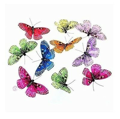 Rainbow Butterfly Garland: 9 Pieces