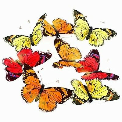 8 Piece Large Sized Monarch Butterfly Garland - Fall Colors