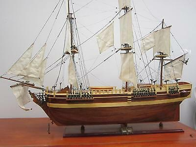 "HMS BOUNTY 32"" British wood model-large scale tall ship handcrafted model new"