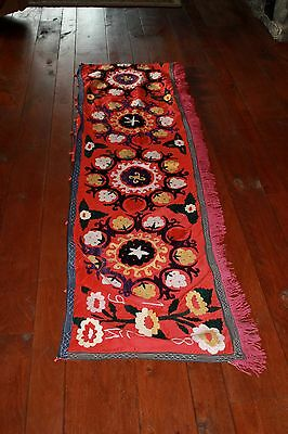Vintage embroidered suzani wall hanging