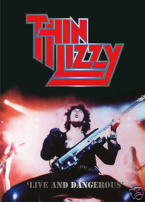 Thin Lizzy Live And Dangerous Poster Ireland Rock