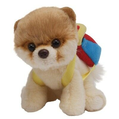 "Gund 5"" Itty Bitty Boo The Worlds Cutest Dog Cuddly Soft Plush Toy With Backpack"