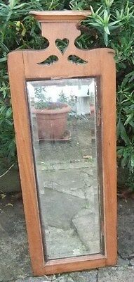 Beautiful Large Antique Mirror / Antique Wooden Framed Bevelled Mirror