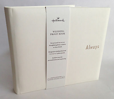 Hallmark Wedding Photo Proof Album, Warm White, Simulated Leather, Blank Pages