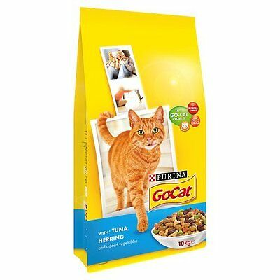 Go-Cat Adult Tuna Herring and Vegetable Dry Cat Food 10kg Cat Food