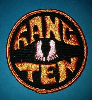 Vintage 1970's Collectable Surfing Hang Ten Sew On Hat Jacket Hoodie Patch Crest