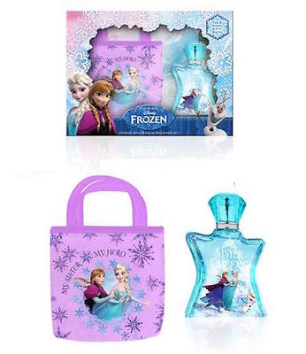 Disney Frozen Eau De Toilette Children Fragrance and Printed Tote Bag Gift Set