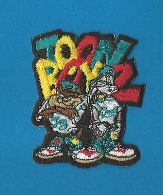 Retro 1990's Toon Boyz Taz & Bugs Bunny Iron On Hat Jacket Hoodie Patch Crest